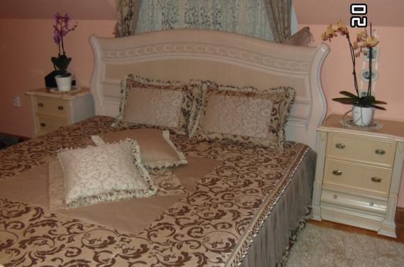 Ágytakaró, párna, bogyós bortni