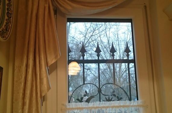 Drapéria konyhába vitrázsfüggönnyel