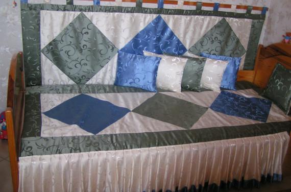 Fiúszoba-ágytakaró és falvédő