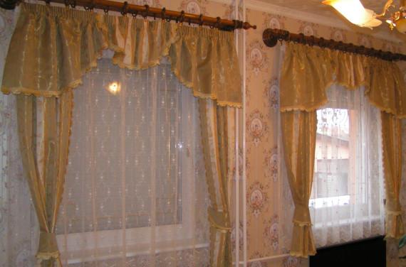 Hímzett tüll függöny